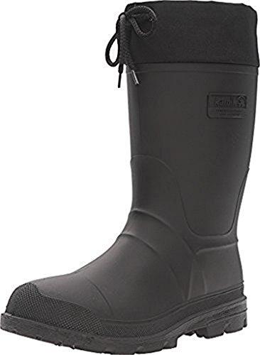 Kamik Men's Icebreaker Snow Boots Black 11 & Toe Warmers Bundle ()