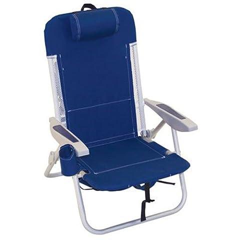 Rio Brands SC543-63 Backpack Chair/Cooler - Deluxe Aluminum Trim
