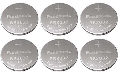 - Panasonic Battery, Lithium Button Cell Br3032 (6 Pieces)