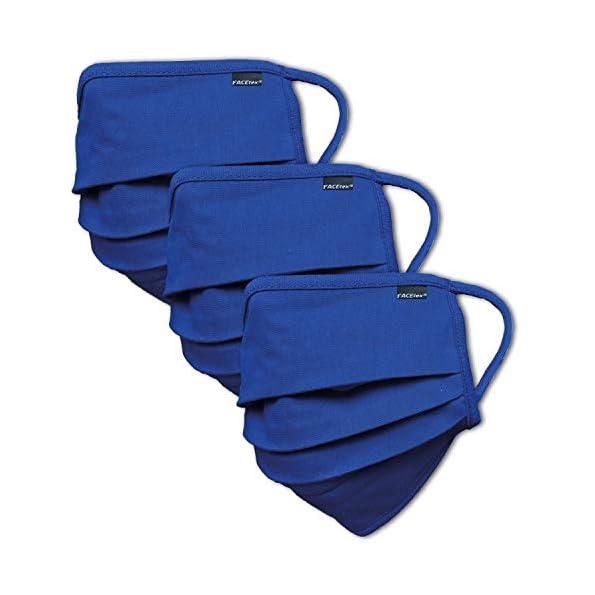 3er-Pack-Abdeckung-100-Bio-Baumwolle-waschbar-bis-90C-Bgeleisen-geeignet-Oeko-TEX-100-Standard-Einheitsgre-fr-Erwachsene-Wiederverwendbare-Behelfs-Abdeckung-fr-Mund-Nase-in-blau