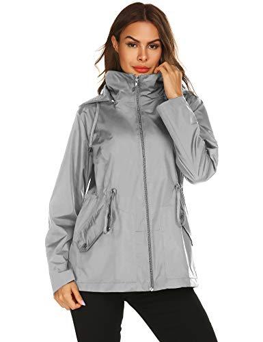 Doreyi Packable Outdoor Coats Waterproof Active Cycling Hiking Rain Jacket Lightweight Hooded Waterproof Jacket (Best Light Rain Jacket Hiking)