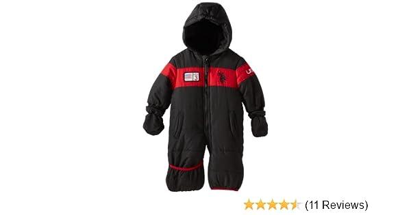 55288e4a3 Amazon.com  U.S. Polo Assn. Baby Boys  Dewspo Bubble Snowsuit
