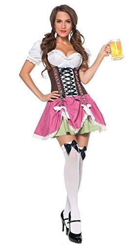 German Beer Garden Girl Costume (Sexy Oktoberfest Costume - Adult Hallowen German Swiss Beer Girl Costume)