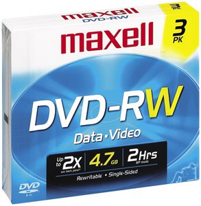 MAXELL 635115 DVD-RW Rewriteable Recordable DVD by Maxell
