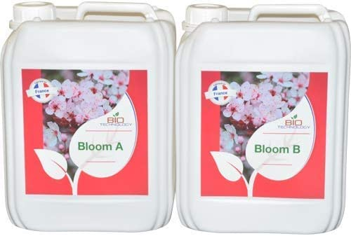 Bio Technology® | Fertilizante de Floración de Calidad | Fertilizante de Floración Universal | Gran Rendimiento y Aroma Bloom A + B - 5 L