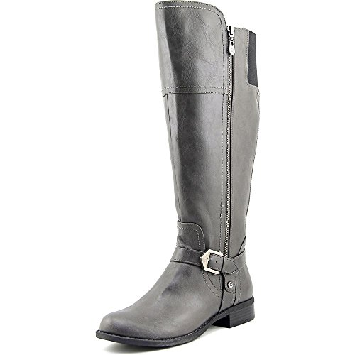 G by GUESS Womens Hailee WC Round Toe Knee High Fashion, Dark Grey, Size - Guess Grey Boots
