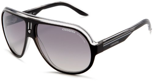 Carrera Speedway Aviator Sunglasses ,Black Crystal Silver Frame/Gry Mir Grd Slv Lens,one - Carrera Sunglasses