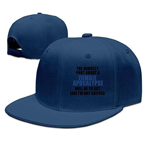 Hardest Part About A Zombie Apocalypse Snapback Cap Flat Bill Baseball Caps -