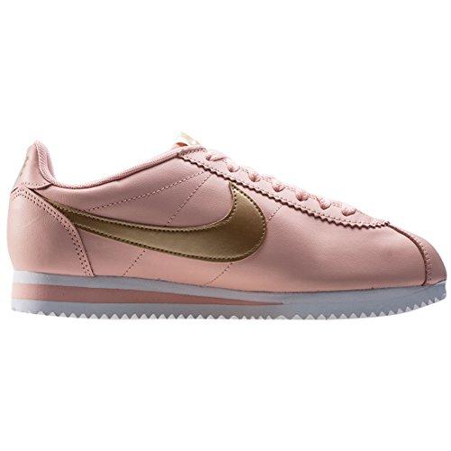 Nike Femmes Classique Cortez Cuir Casual Chaussure Rose Pêche