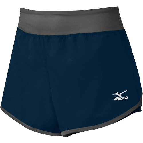 Mizuno Cover Up Women's Short - Small Navy/Gray by Mizuno