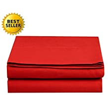 Elegant Comfort 1-Piece Fitted Sheet, Twin/Twin Xl Size, Red