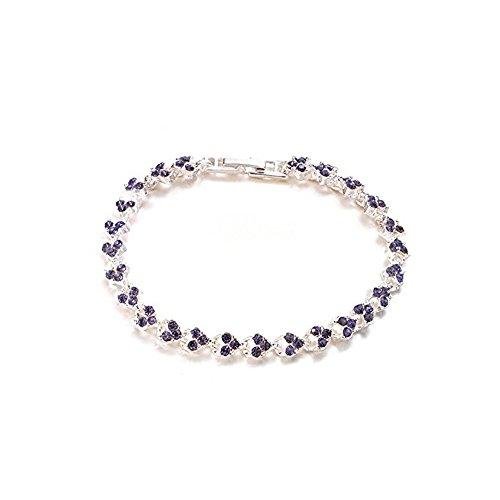 Exquisite Luxury Roman Crystal Bracelet Simply Diamond Full Diamond Bracelet Crystal Weave Bracelet