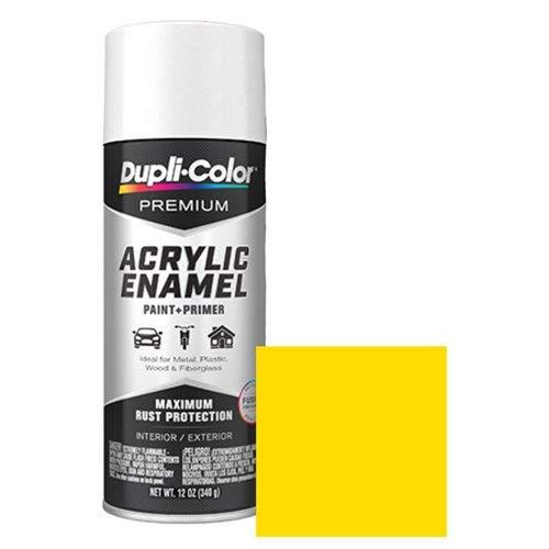 Dupli-Color EPAE11300 Premium Acrylic Enamel Spray Paint (PAE113 Chrome Yellow 12 oz), 12. Fluid_Ounces