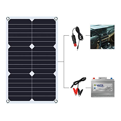 - SUNKINGDOM 12 Volt 12v Solar Battery Charger, 18W Solar Battery Tender, Solar Car Battery Charger, Solar Trickle Charger, Solar Panel Battery Maintainer for Automotive, Motorcycle, Boat, Marine, RV