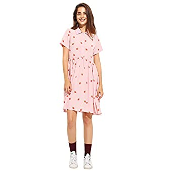 Strawberry Print Kawaii Vestidos at Amazon Women's Clothing store