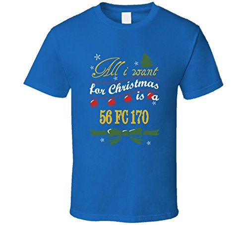 All I Want For Christmas Is A 1956 FC 170 Funny Jeep T Shirt S Royal Blue