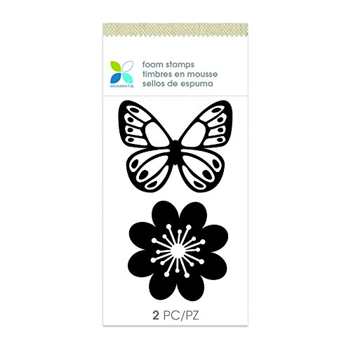 Momenta Butterfly Foam Stamps 2 Pack, Black - Foam Stamps Flowers