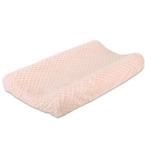 Arianna Plush Pink Changing Pad Cover by The Peanut Shell