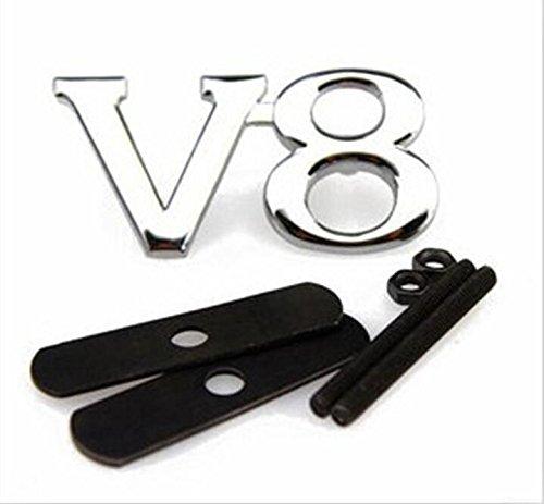 E456 V8 Puissance mé tal Autocollant de Voiture Badge emblè me Grille 3D Haut de Grille Avant carsemblème®