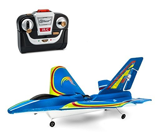 Top Race® 3 Channel F16 Fighter Jet Electric RC Airplane Ready to Fly Model: (Electric Fighter Jet)