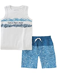 Boys' 2 Pieces Muscle Top Shorts Set