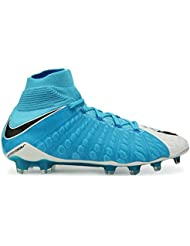 Nike Men's Hypervenom Phantom Iii Dynamic Fit Fg White/Black/Photo Blue Soccer Shoes