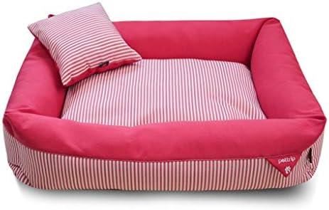 犬猫ソファベッド、 きれいにする猫犬滑らないボトム/取り外し可能な洗える/簡単&無毒ペットベッド/赤のためにペットベッド (Size : L)