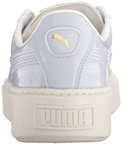 PUMA Women's Basket Platform Patent Wn's Field Hockey Shoe, Halogen Blue-Halogen, 10.5 M US