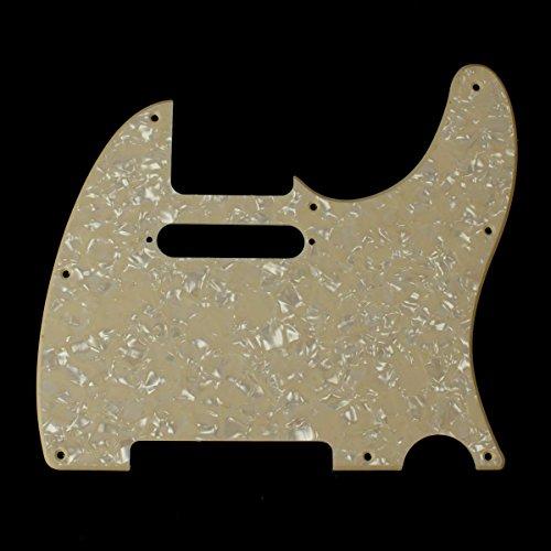 (E91) Custom Guitar Pickguard Fits Tele Standard, 4ply Cream Pearl
