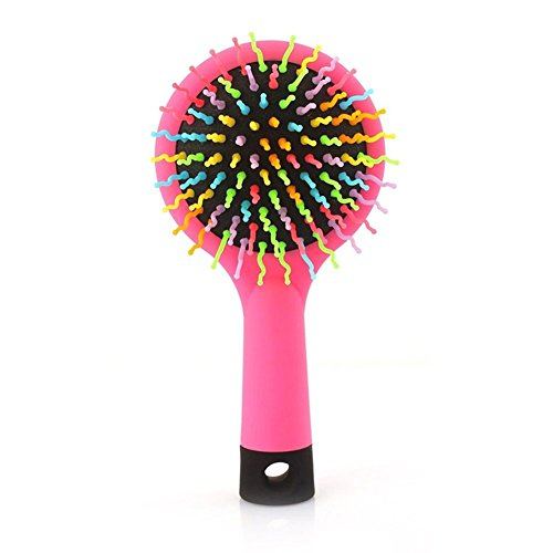 Cheap Bluelans Detangling Brush with Mirror - Detangler Hair Comb or Brush - No More Tangle - Wet & Dry Detangle Comb - Adults & Kids (Pink) free shipping