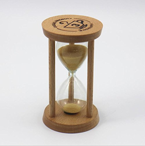 Graces Dawn® 3 minutes wooden hourglass yellow minimalist modern home furnishing