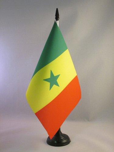 AZ FLAG Bandiera da Tavolo Senegal 21x14cm - Piccola BANDIERINA Senegalese 14 x 21 cm