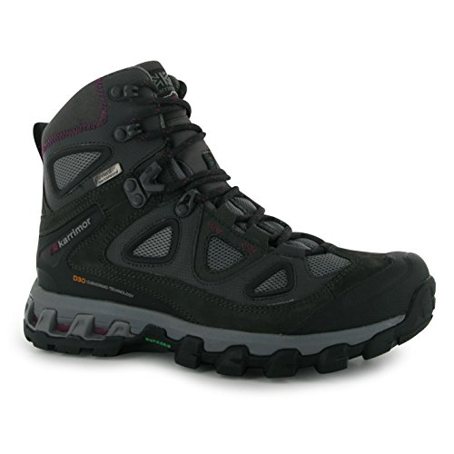 Karrimor Ksb Jaguar Femme Bottes de randonnée chaussures de randonnée en cuir Chaussures de trekking Noir rCfsg