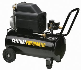 - Central Pneumatic 2 HP, 8 Gallon, 125 PSI Portable Air Compressor