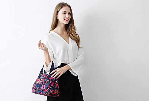 shoulder 2018 printed nylon single European handbag Fantasy orchid and Satchel purple new Zazero Bag fashion American PxdUBqPnSw