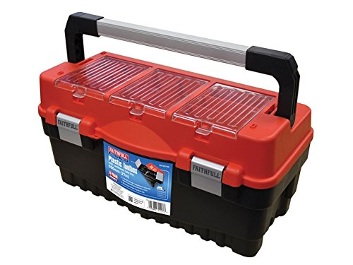 Faithfull - Cantilever Tote Tray & Organiser Lid Toolbox 21in