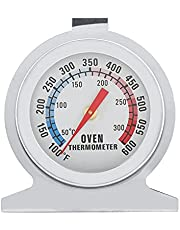 Oven Thermometer, Stainless Steel Meat Thermometer for Oven/Grill/Smoker Monitoring Thermometer, 50-300°C/100-600°F