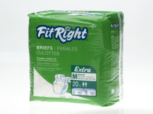 medline FITEXTRAMD FITEXTRAMDZ FitRight Extra Briefs (Pac...
