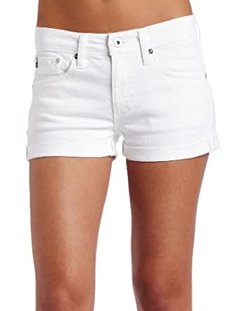 AG Adriano Goldschmied Women's Pixie Roll-Up Short, White, 31