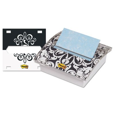 Pop-up Note Dispenser with Designer Insert, 3 x 3 Pad, Clear Acrylic, Sold as 1 Each (Acrylic Designer Tape Dispenser)