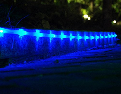 POPPAP Outdoor Rope Lighting Blue, Solar Powered