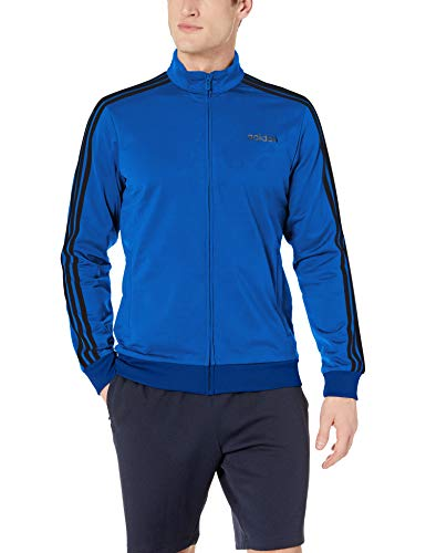 adidas Men's Essentials 3-Stripes Tricot Track Jacket, Collegiate Royal/Black, XX-Large