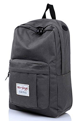 Travel Outdoor Computer Backpack Laptop bag middle(darkgrey) - 1