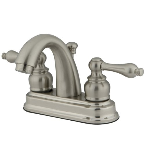 Kingston Brass KB5618AL Restoration 4-Inch Centerset Lavatory Faucet, Brushed ()