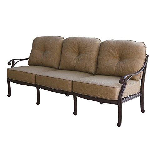 Darlee Nassau Patio Sofa with Cushion in Antique Bronze