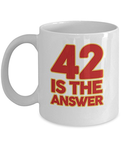 42 IS THE ANSWER Dont Panic Hitchhikers Guide to the Galaxy Mug