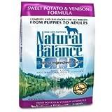 Natural Balance Sweet Potato and Venison Formula Dog Food, 5-Pound Bag, My Pet Supplies