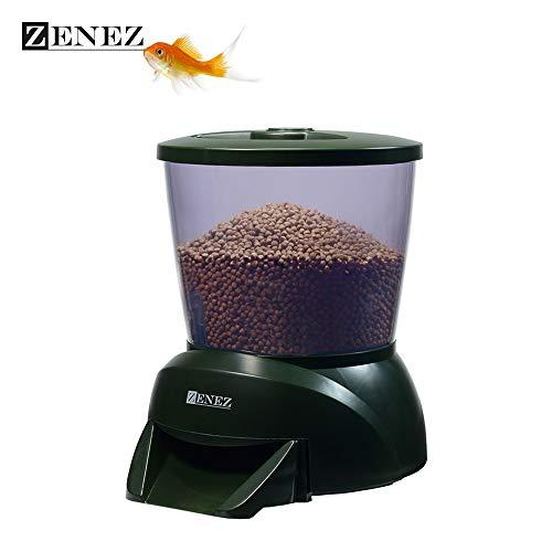 Pond Fish Feeder Automatic Aquarium Fish Feeder Programmable Food Dispenser Timer ()