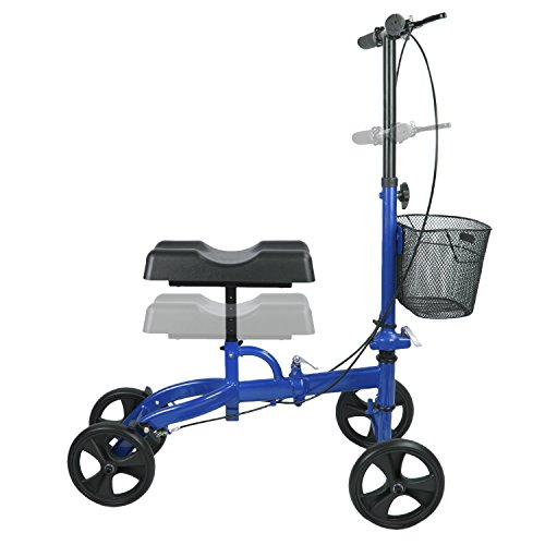 Elevens Steerable Knee Walker with Lockable Brake, Medical Knee Scooter Alternative to Crutches for Broken Leg and Foot Injuries by Elevens (Image #2)