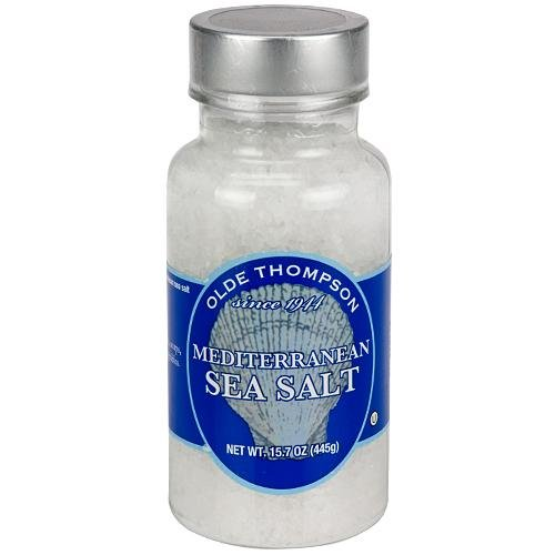 - Olde Thompson Mediterranean sea salt refill, 15.7 oz.